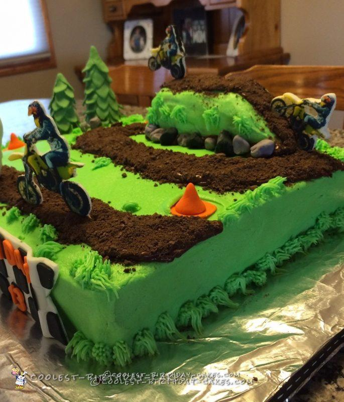 Let S Ride Dirt Bike Track Cake