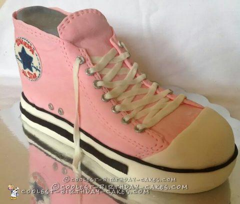 Sweet Sixteen Pink Converse Shoe Cake