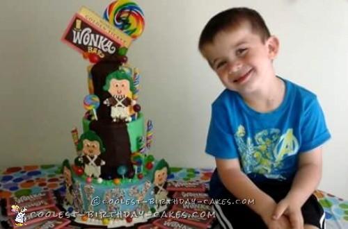 Coolest Willy Wonka Birthday Cake