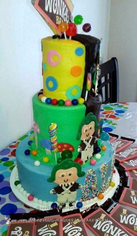 Coolest Willy Wonka Birthday Cake