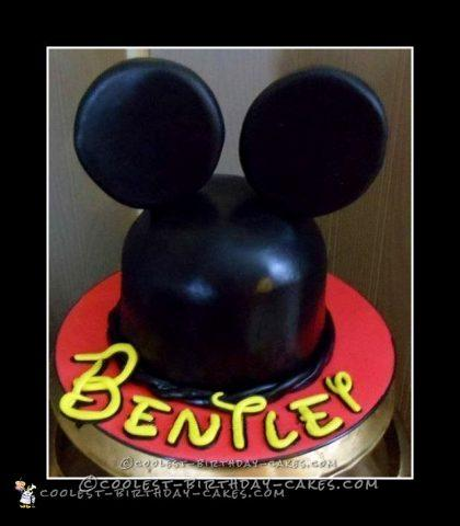 Coolest Homemade Mickey Mouse Birthday Cake