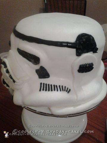 Awesome 3D Storm Troopers Helmet Cake