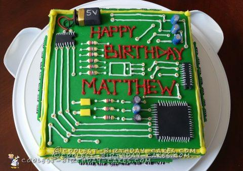 Dream Computer Birthday Cake for a Computer Engineer