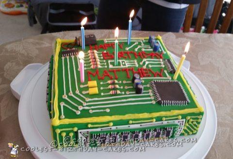 Astonishing Dream Computer Birthday Cake For A Computer Engineer Funny Birthday Cards Online Barepcheapnameinfo