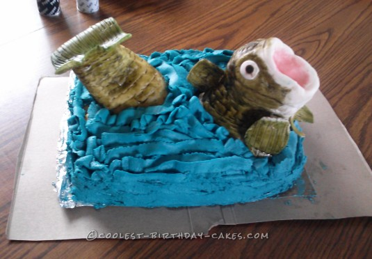 Super Coolest Homemade Fishing Cakes Funny Birthday Cards Online Elaedamsfinfo