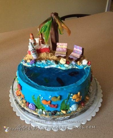 Chillin' At The Beach Birthday Cake