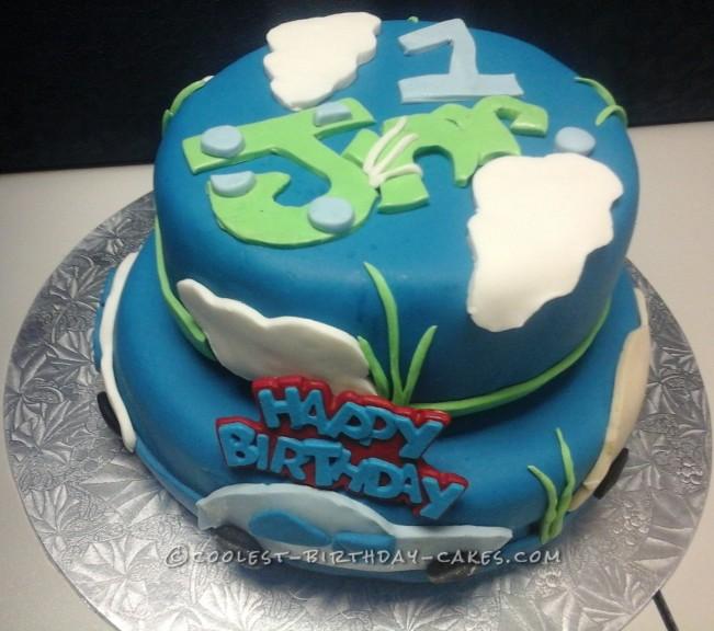 1st Birthday Cloud Cake