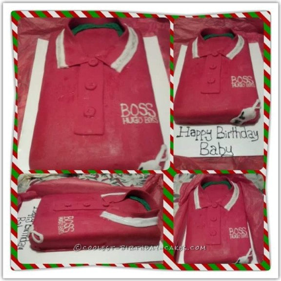 Coolest Red Hugo Boss Shirt Cake