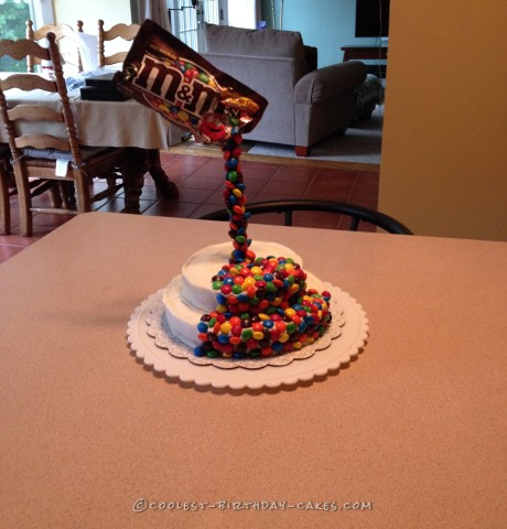 Coolest M&Ms Anti-Gravity Cake