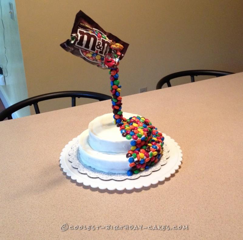 Coolest M&Ms Anti-Gravity Cake