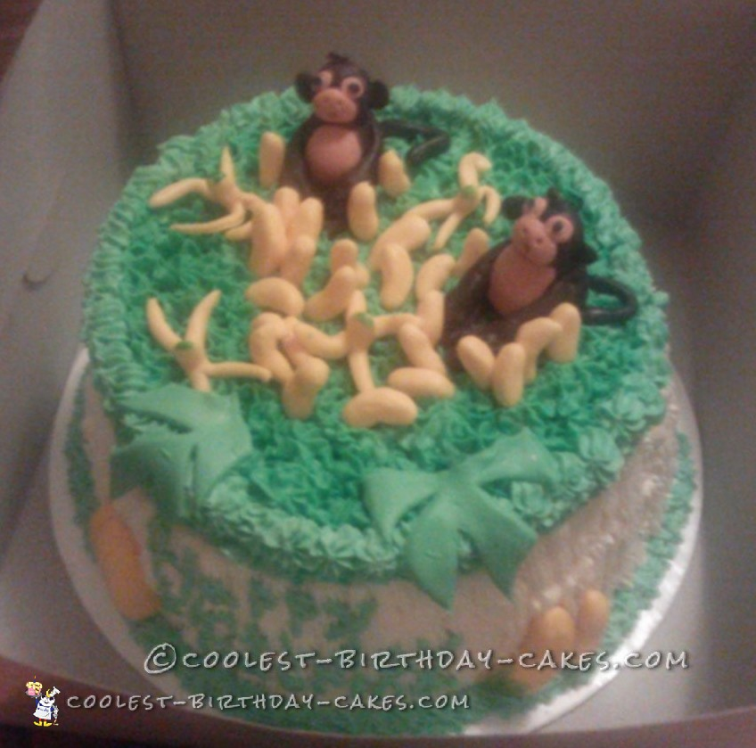 Coolest Monkey Birthday Cake