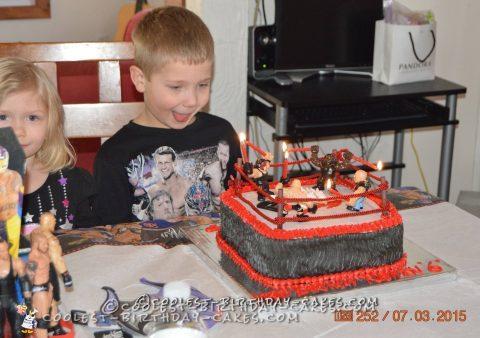Nathan's WWE Wrestling Ring Cake