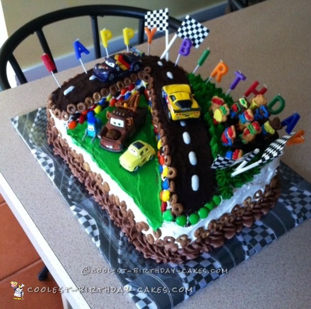 Coolest Cars Race Track Birthday Cake