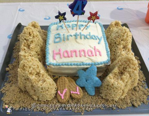 Beach Party Sandcastle Birthday Cake