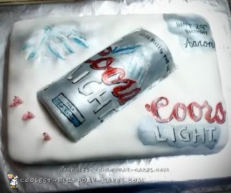 Awesome Coors Light Birthday Cake