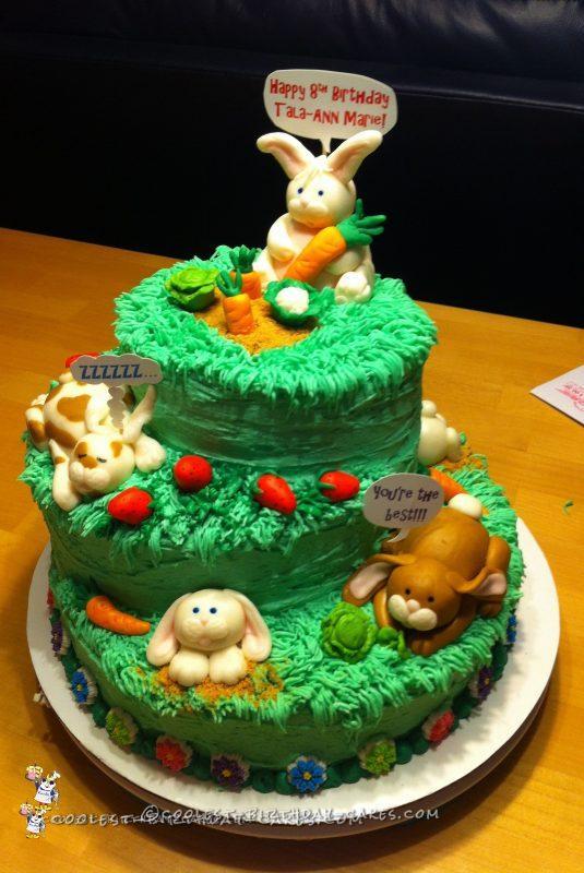 Coolest Bunny Birthday Cake