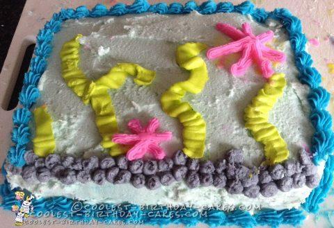 Casual Seaside Cake