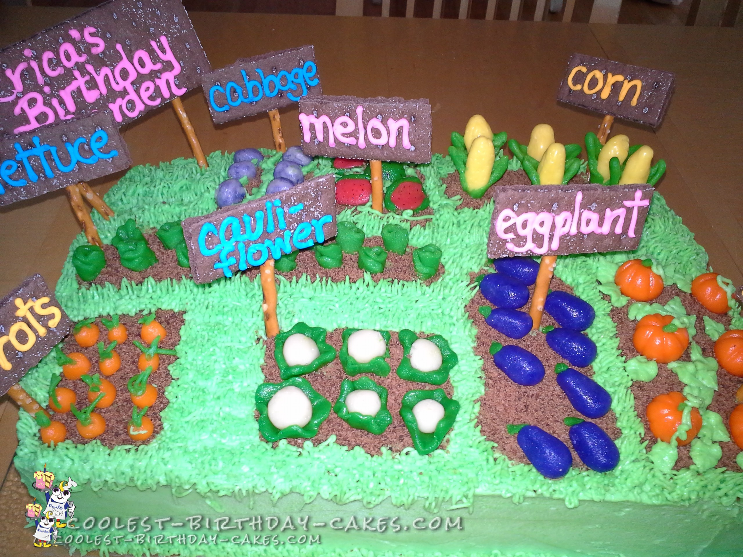 Easy Vegetable Garden Cake