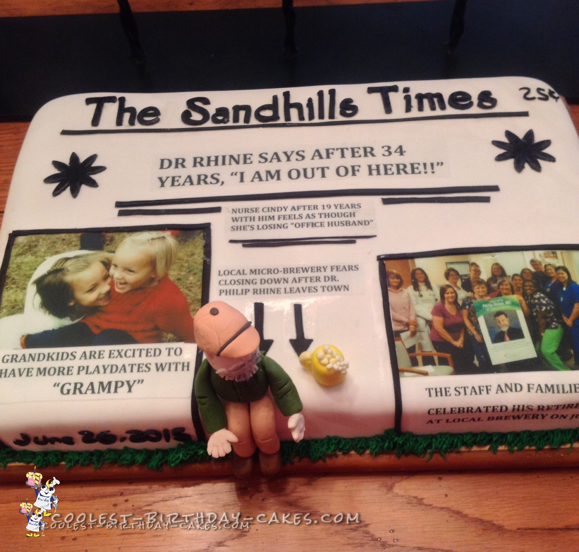 Coolest Retirement Cake