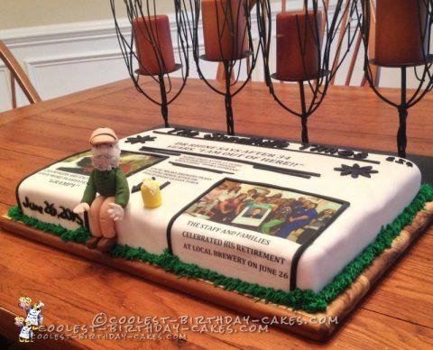 Coolest Retirement Cake