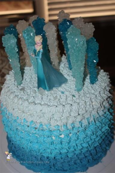 Wondrous Coolest Frozen Elsa Cake Birthday Cards Printable Trancafe Filternl
