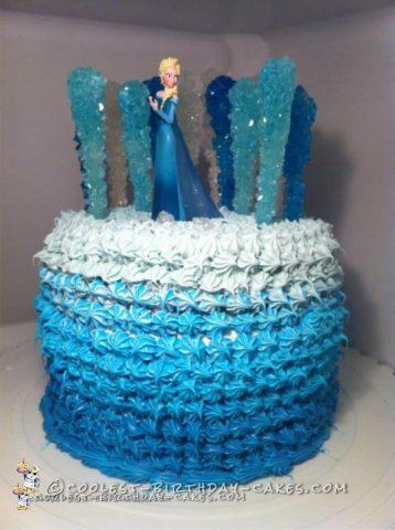 Pleasant Coolest Frozen Elsa Cake Funny Birthday Cards Online Unhofree Goldxyz