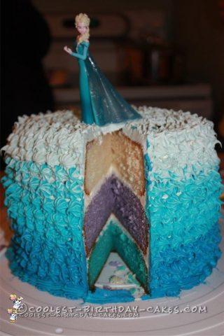 Coolest Frozen Elsa Cake