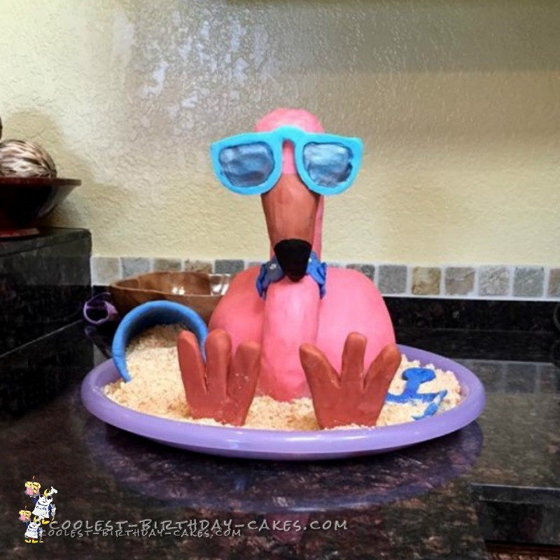 Floyd the Flamingo Birthday Cake