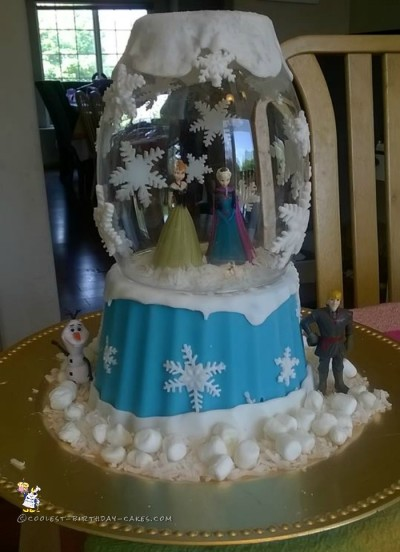 Coolest Frozen Snow Globe Cake