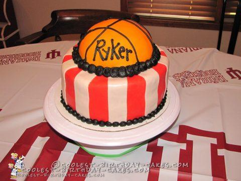 Indiana Hoosiers Basketball Theme Cake