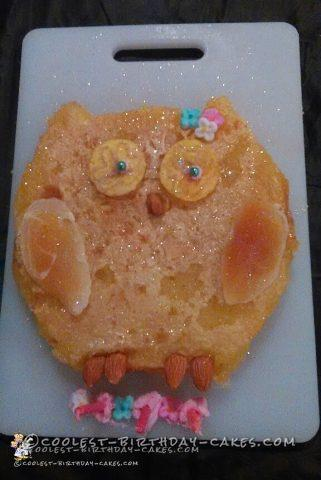 Coolest Lemon Bar Owl Cake