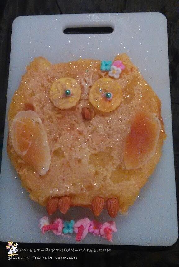 Coolest Lemon Bar Owl Cake