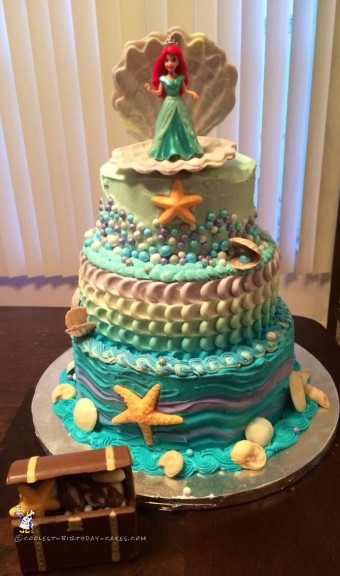 Little Mermaid Cake for First Birthday