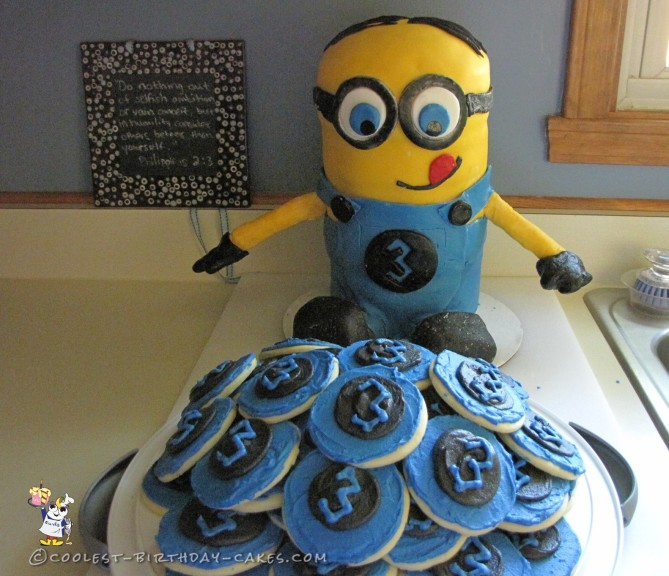 3rd Birthday Minion Cake and Cookies
