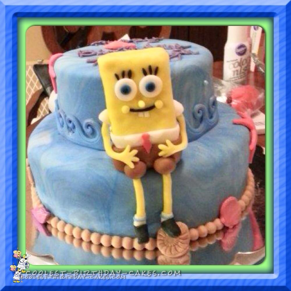 How To Make A Sponge Bob Square Pants Birthday Cake