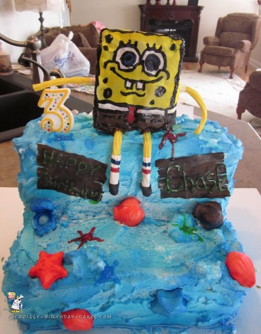 3rd Birthday Spongebob Squarepants Cake