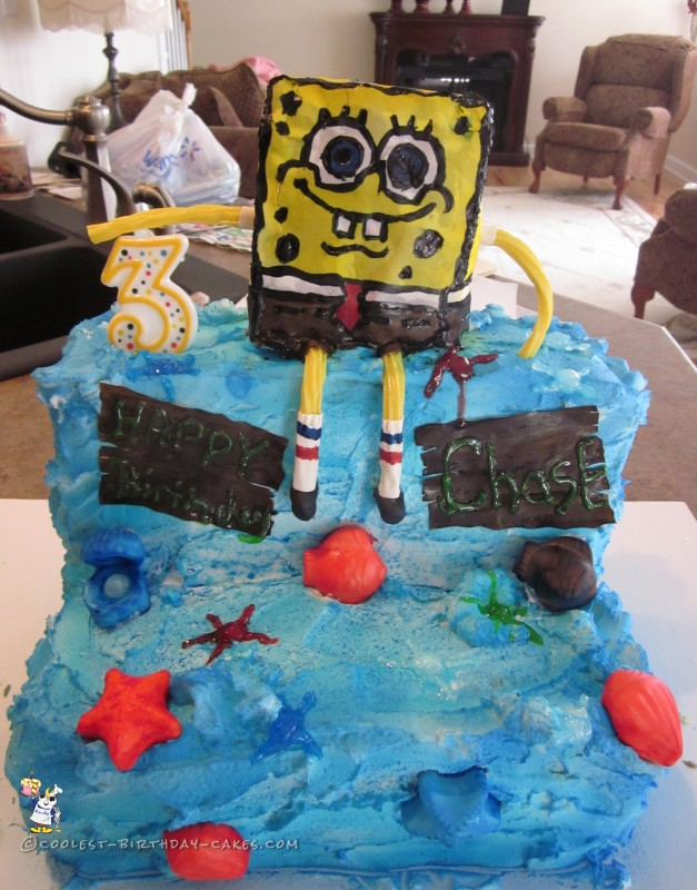 Fabulous 320 Coolest Homemade Spongebob Squarepants Cakes Funny Birthday Cards Online Alyptdamsfinfo
