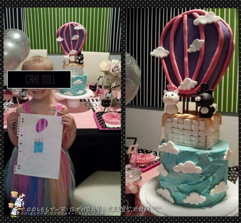 Art Inspired Hot Air Balloon Cake