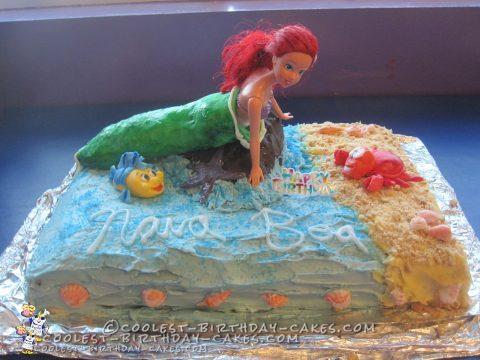 Coolest Little Mermaid Ariel Birthday Cake