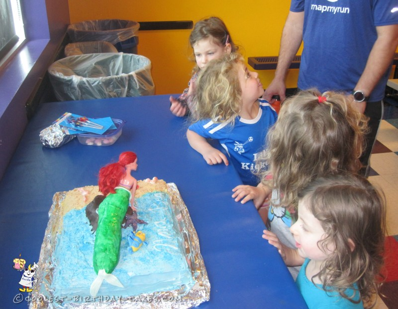 Coolest Little Mermaid Ariel Birthday Cake