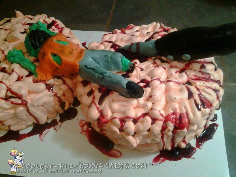 Zombies Eating Brains Cake