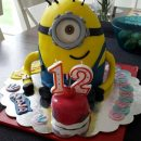 Coolest 12th Birthday Minion Cake