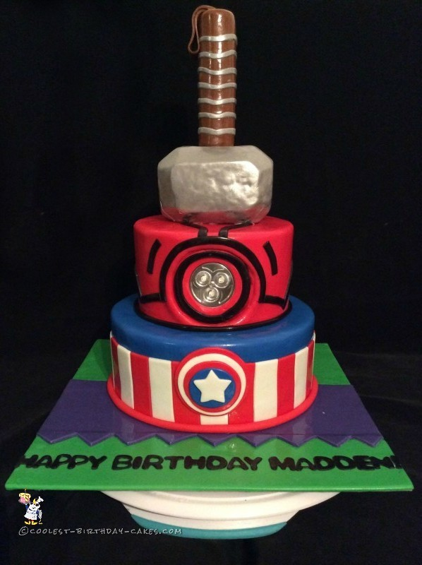 Coolest Avengers Cake