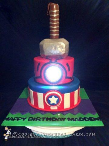 Coolest Avengers Cake