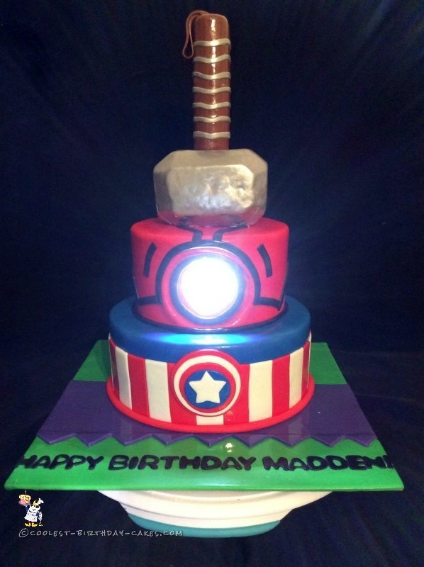 My cousin called me up to ask me to make her son an Avengers cake. She ...