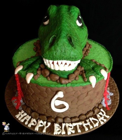 Miraculous Awesome T Rex Dinosaur Birthday Cake Funny Birthday Cards Online Sheoxdamsfinfo