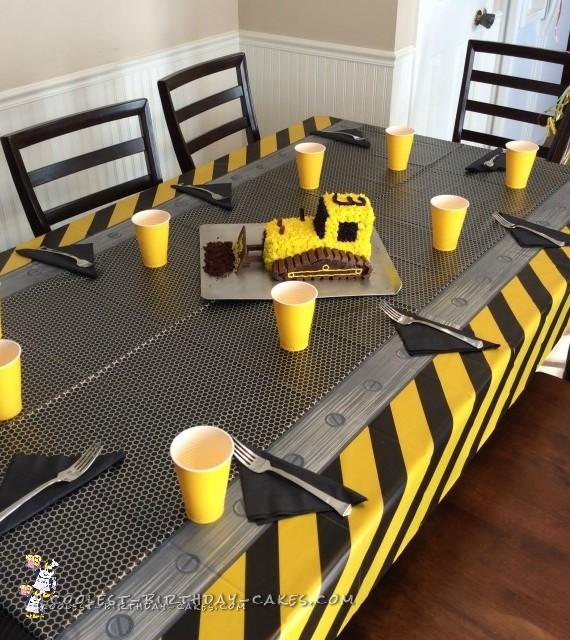Coolest 3rd Birthday Bulldozer Cake