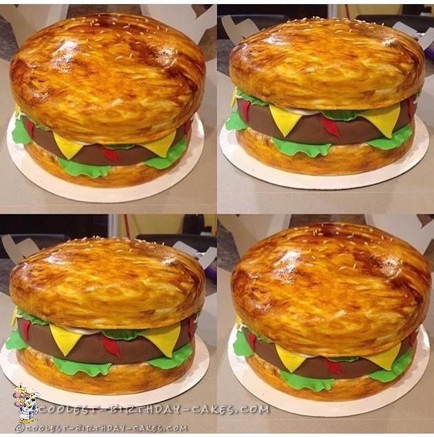 Coolest Cheeseburger Birthday Cake
