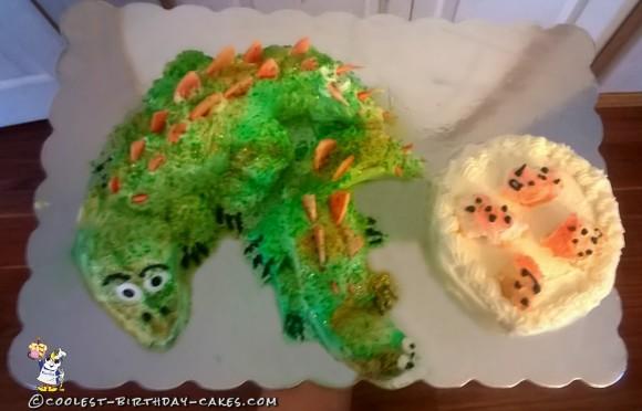 Coolest Dinosaur Stegosaurus Cake