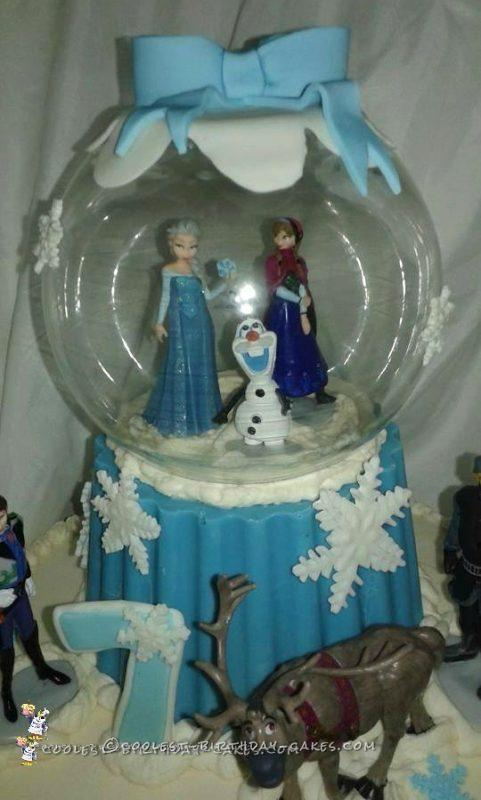 Close Up of Top Tier and Snow Globe
